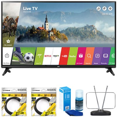 43` Class Full HD 1080p Smart LED TV 2017 Model 43LJ5500 with Cleaning Bundle