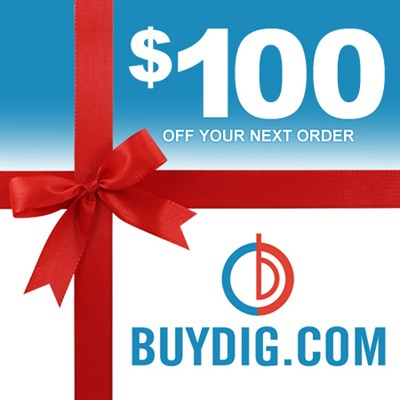 $100 Buydig Gift Card Valid on Any Single Purchase of $100 or more at Buydig.com