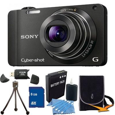 Cyber-shot DSC-WX10 Black Digital Camera 8GB Bundle