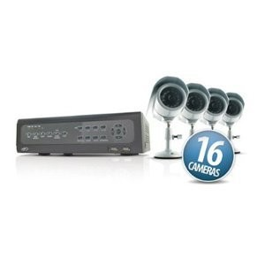 Web Ready 16 Channel H.264 DVR Security System w/ 16 Cameras