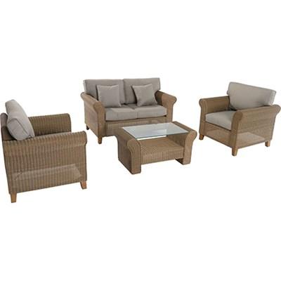 Sea Breeze 4pc Steel Seating Set:Loveseat2 Side ChairsCoffee Table