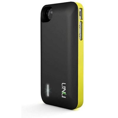 Exera Modular Detachable Battery Case for iPhone 4S 4 - Yellow/Black