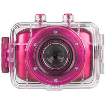 HD Action Waterproof Camera / Camcorder - Hot Pink DVR781HD-HPNK