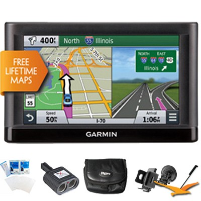 nuvi 66LM GPS Nav w/ Lifetime Maps 6` Display Plus Ultimate Bundle