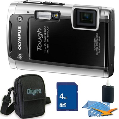 Tough TG-610 14MP Water/Shock/Freezeproof Digital Camera Black 4GB Kit