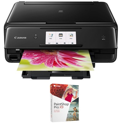 PIXMA TS8020 Wireless All-In-One Printer,Scanner & Copier Black+Paint Shop