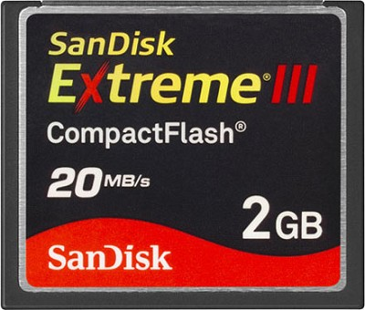 2 GB Extreme III CompactFlash Memory Card 20MB/S {SDCFX3-002G-A21}