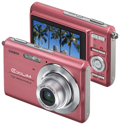 Exilim Z75 7.2 MP wtih 2.6` Wide LCD - Anti-Shake DSP (Pink)