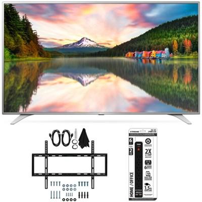 43UH6500 43-Inch 4K UHD Smart TV w/ webOS 3.0 Slim Flat Wall Mount Bundle