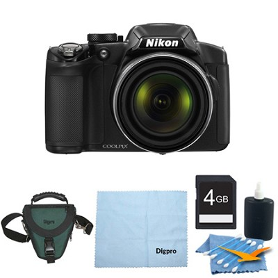 COOLPIX P520 18.1MP 42x Opt Zoom 3.0 LCD Digital Camera 4GB Black Bundle