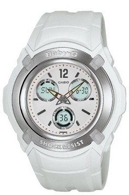 BG1500A-7B - Baby-G Atomic Ana-Digi White Watch
