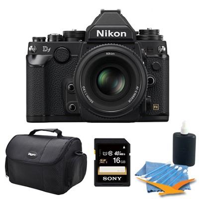 Df Full-Frame Digital SLR Camera with 50mm f/1.8 Special Edition Lens Black Kit