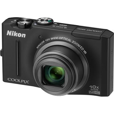 COOLPIX S8100 12.1 Megapixel Black Digital Camera w/ 1080p HD Video