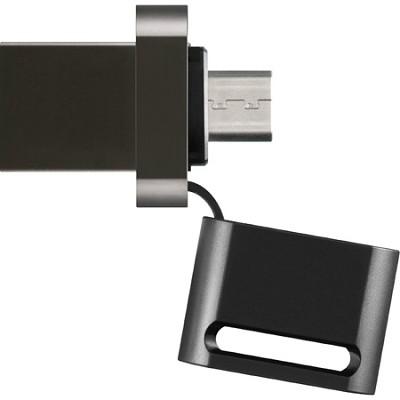 USM16SA1 16GB Microvault USB Flash Drive for Smartphone - Black