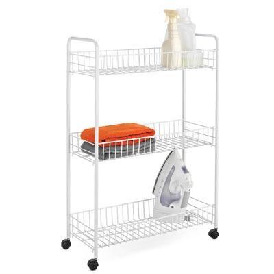 Three Tier Laundry Cart White