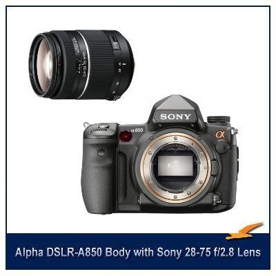 Alpha DSLR-A850 24.6 MP SLR Digital Camera Body with 28-75 f2.8  Lens