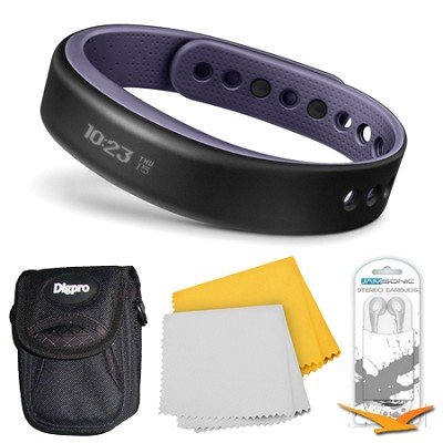 vivosmart Bluetooth Fitness Band Activity Tracker - Small - Purple Bundle