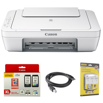 Pixma All-In-One Color Printer, Scanner, Copier w/ Genuine Canon Ink Bundle