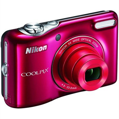 L32 20.1MP 720P HD Video w/ 5X Zoom Digital Camera (Red) Refurbished