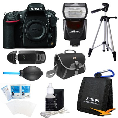 D810 36.3MP 1080p HD DSLR Camera Body with SB-700 Speedlight Flash Bundle
