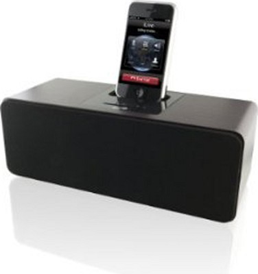 2.1 Channel Cherry Wood Speaker with Dock for iPod and iPhone (Brown)