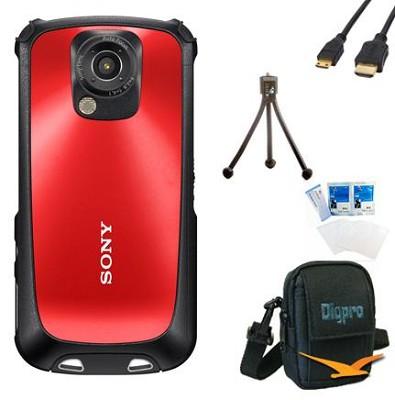 MHS-TS22 Bloggie Sport HD Camera  Value Bundle (Red)