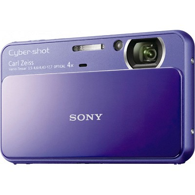Cyber-shot DSC-T110 16.1MP Purple Touchscreen Digital Camera - OPEN BOX