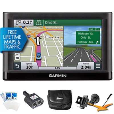 Nuvi 65LMT Essential Series GPS Nav w/ Lifetime Maps 6` Display Ultimate Bundle