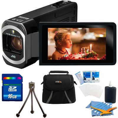 GZ-VX700BUS - HD Everio Camcorder 3` Touchscreen 10x Zoom f1.2 Wifi 16 GB Bundle