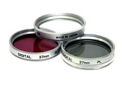 40.5mm UV, Polarizer & FLD Deluxe Filter kit (set of 3 + carrying case)