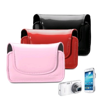 Patent Leatherette Phone & Camera Case - 3 Colors