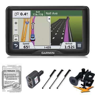 nuvi 2797LMT 7` Bluetooth GPS with Lifetime Maps and Traffic Ultimate Bundle