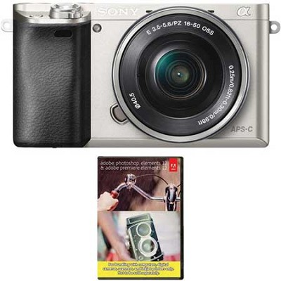 Alpha a6000 24.3MP Camera with 16-50mm + Adobe Photoshop Elements 12
