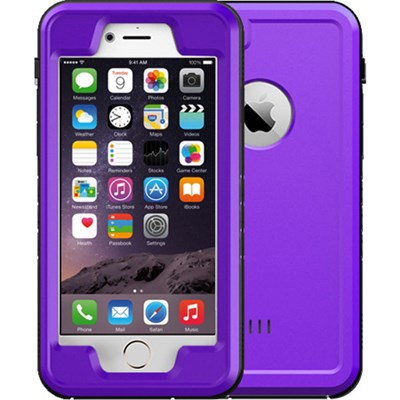 Purple 4.7` Shock Resistant Waterproof Case for Apple iPhone 6/6S