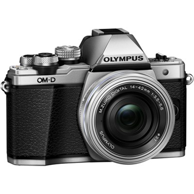 OM-D E-M10 Mark II Mirrorless Digital Camera w/ 14-42mm EZ Lens (Silver)