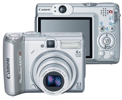 PowerShot A570 IS 7.1MP Digital Camera - REFURBISHED