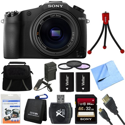 DSC-RX10M II Cyber-shot 4K Video 20.1 MP Digital Still Camera 32GB Card Bundle