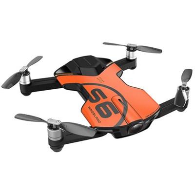 S6 Quadcopter Orange Mini Pocket Drone 4K Camera (Outdoor Edition)