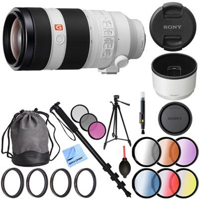 FE 100-400mm f/4.5-5.6 GM OSS Full Frame E-Mount Lens 77mm Filter +Tripod Bundle