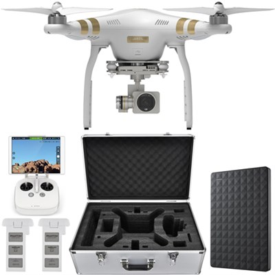 Phantom 3 Professional Quadcopter Drone 4K Camera w/ Gimbal + 1.5TB Hard Drive