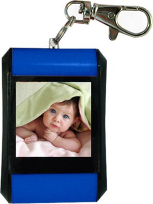 DF15-BK 1.5` Keychain Digital Photo Frame - Holds up to 107 Images (Blue)