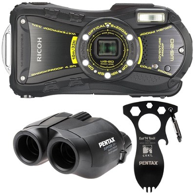 WG-20 14MP Waterproof Shockproof 14.0 Megapixel 5x Zoom Camera Adventure Kit