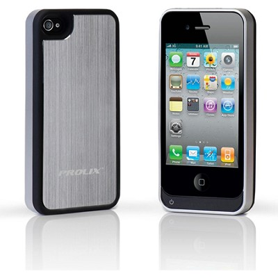 Power iPhone 4/4S Protective External Battery Case -  Aluminum (Silver)