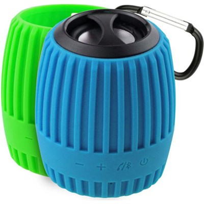 Durapod Rugged Blue / Green Rechargable Bluetooth Weatherproof Speaker