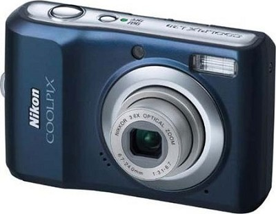 COOLPIX L20 10MP Digital Camera (Navy Blue)