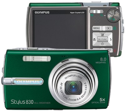 Stylus 830 Digital Camera (Green)
