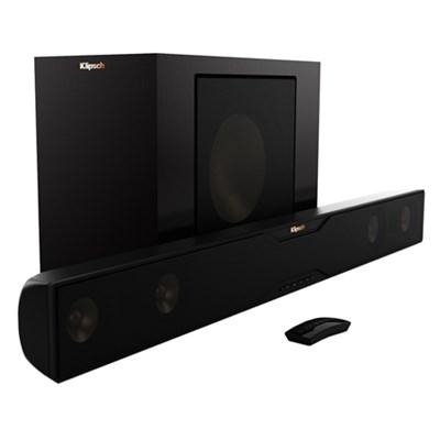 R-20B Bluetooth Soundbar w/Wireless Subwoofer -Satin Black (Refurbished)