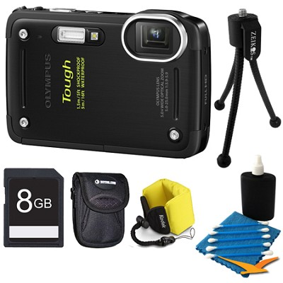 8GB Kit Tough TG-620 iHS 12MP Water/Shock/Freezeproof Digital Camera - Black