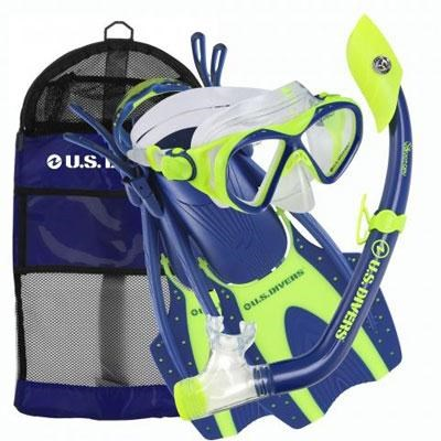 Youth Buzz Junior Snorkeling Set in Neon Blue - 261241