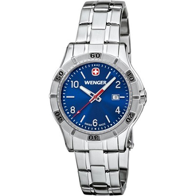 Ladies' Platoon Analog Watch - Blue Dial/Stainless Steel Bracelet